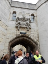 Entering the Tower of London
