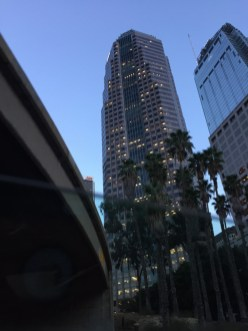 On our slow ride back home, passed by DTLA and PwC