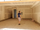 Our drywalled garage!