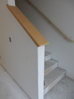 Our staircases have railings now