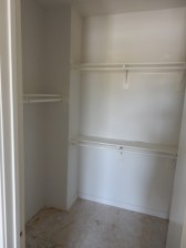 The walk-in closet