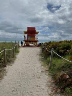 Colorful lifeguard stations