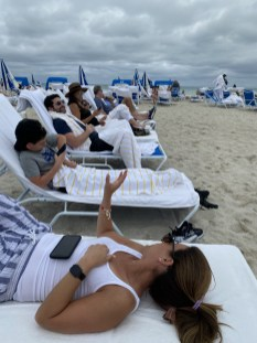 Enjoying the Lowe's beach chairs