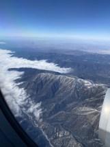 The cloudy San Bernardino mountains