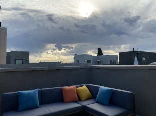 Our roofdeck is ready for guests