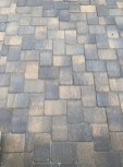 I like how the pavers appear when wet