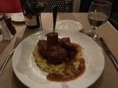 Ossobuco and risotto - it was good