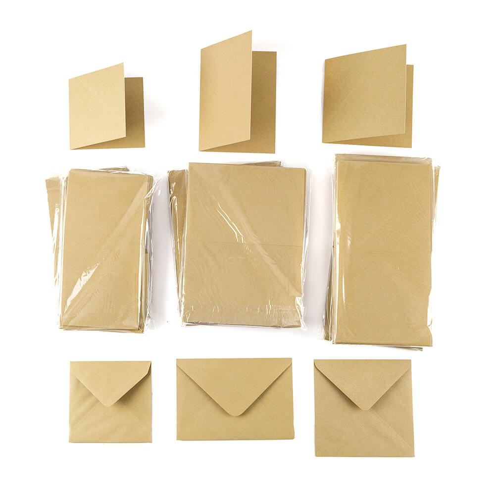 brown kraft cards with