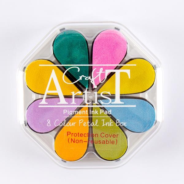 Craft Artist Pigment Ink Petals Spring 8 Colours