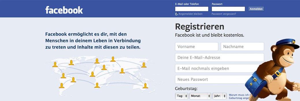 Wie man die Newsletter-Anmeldung von MailChimp in eine Facebook-Landing-Page integriert