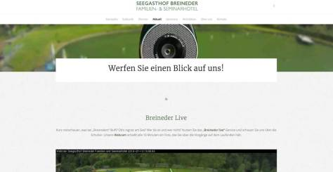 Webcam Seegasthof Breineder - neue Website