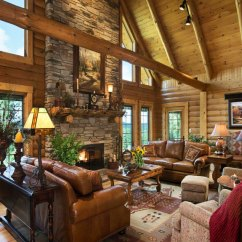 Log Home Living Room Decorating Ideas Color For With Brown Furniture Homes Floorplans Hochstetler Milling View Our Full Gallery