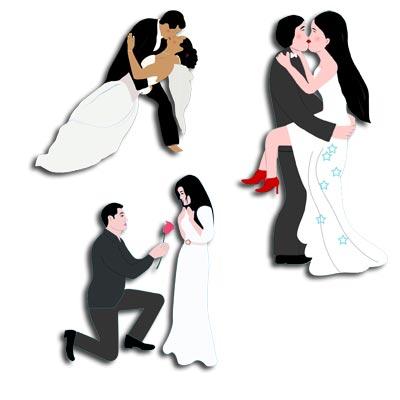Hochzeitszeitung Cliparts Cartoons