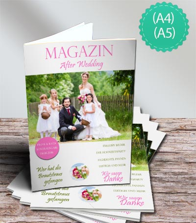 Hochzeitszeitung online selbst gestalten  Schobuk UG