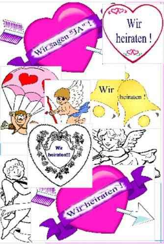 Smbole Grafiken Clipart Bilder zur Hochzeit und Trauung