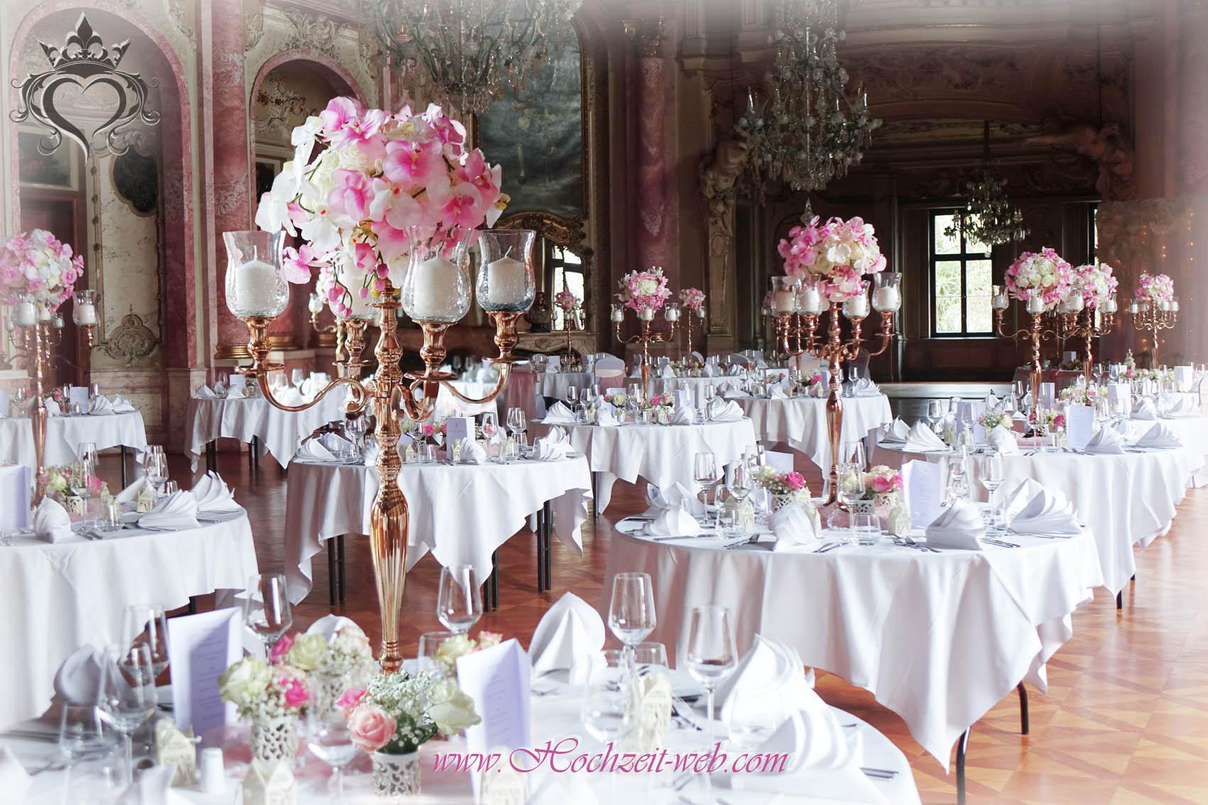 Tischdeko mit Kerzenleuchter Kerzenstnder
