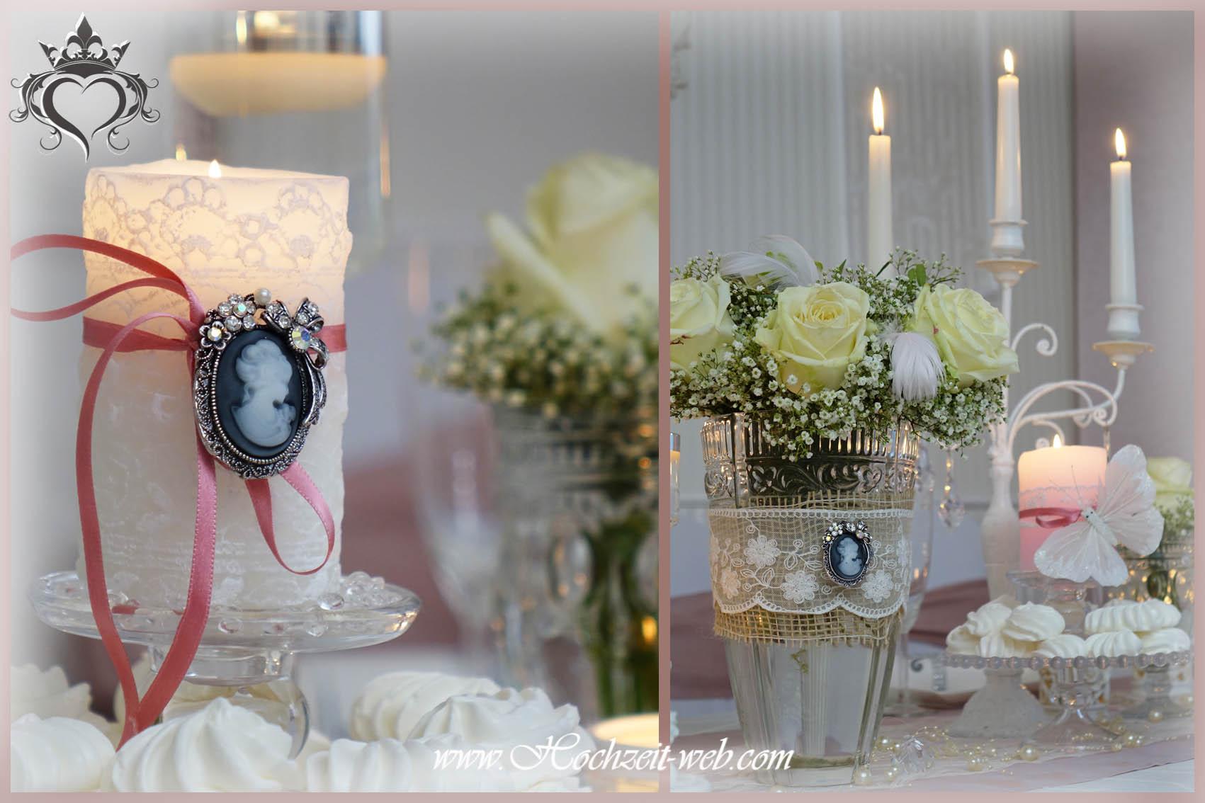 Elegante und extravagante Vasen fr Tischdekoration