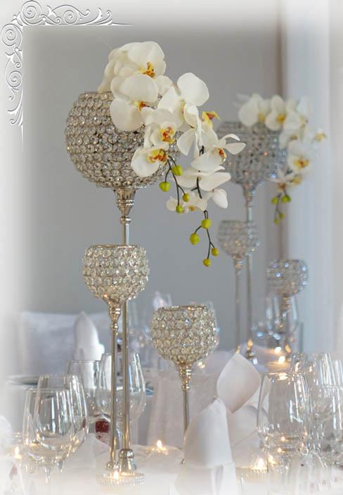 Hochzeitsdekoration Kristallstnder by hochzeitwebcom