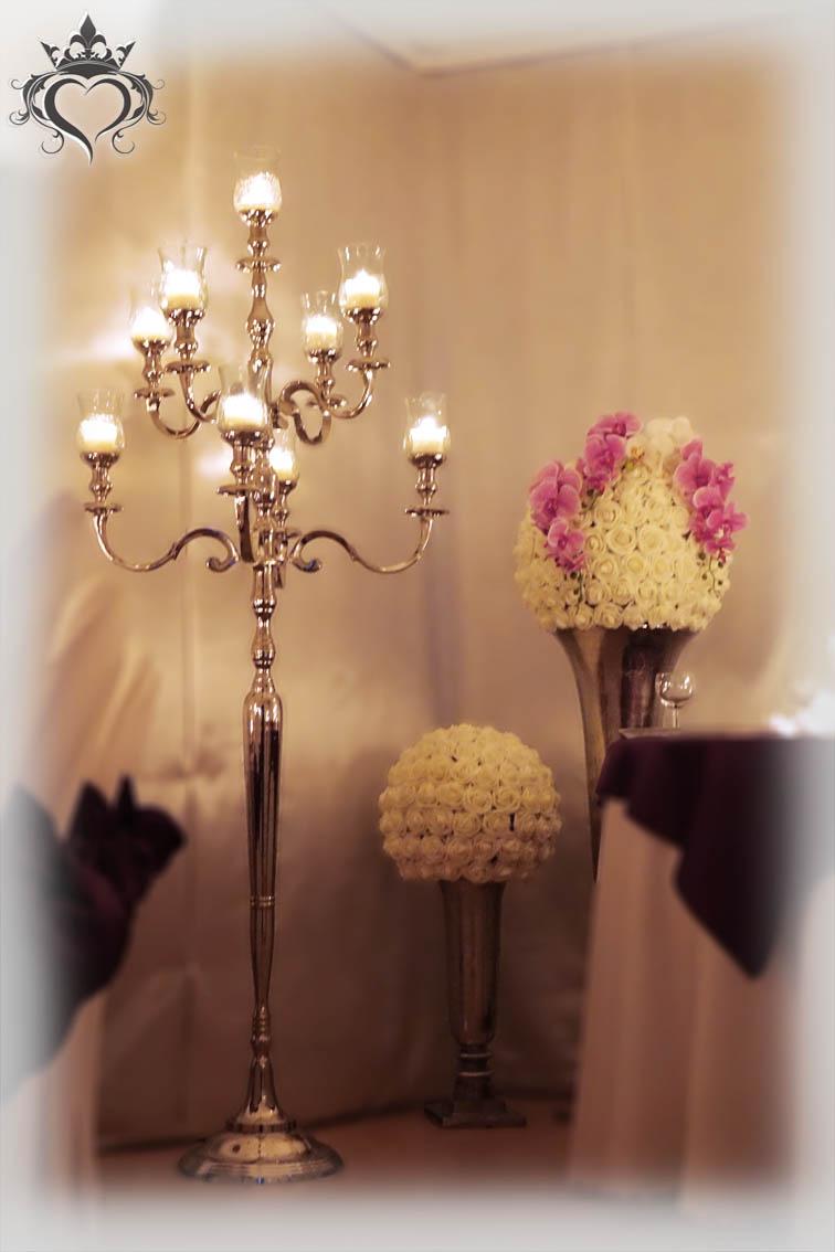 Hochzeitsdekoration Kerzenleuchter Kerzenstnder Silber