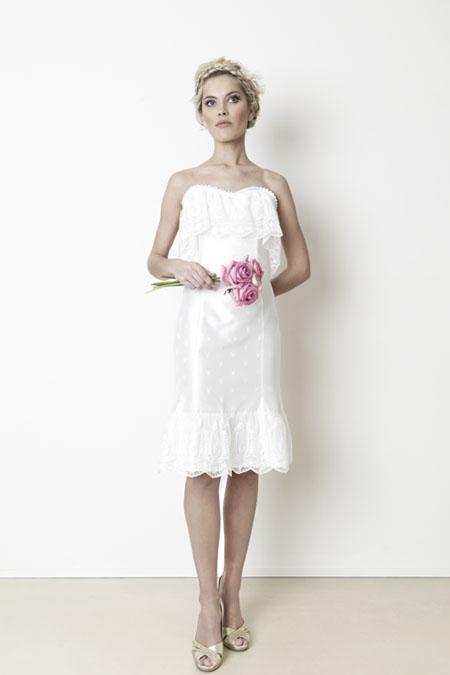 Weißes Dirndl Brautkleid