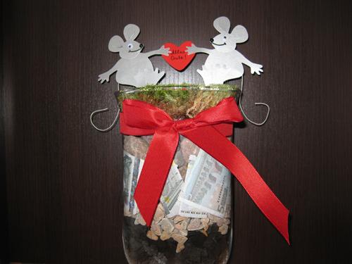 Geldgeschenk zur Hochzeit oder zum Geburtstag