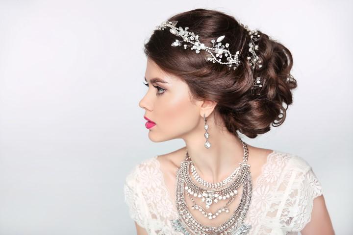 Halskette  Collier zur Hochzeit  Halsschmuck fr die Braut