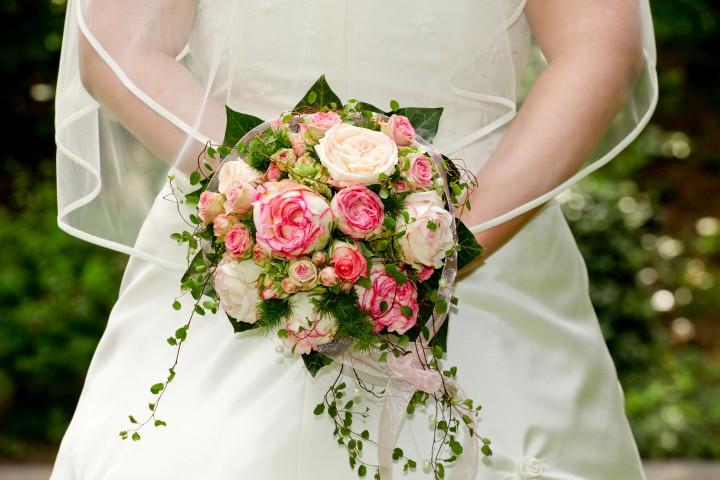Brautstrau Silberhochzeit