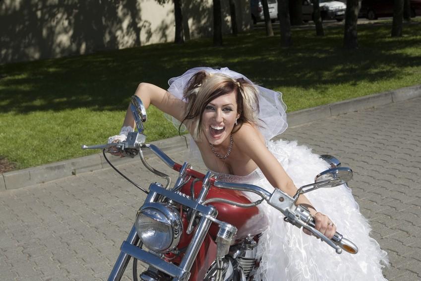Bikerhochzeit feiern Ideen fr ein rockiges Ambiente