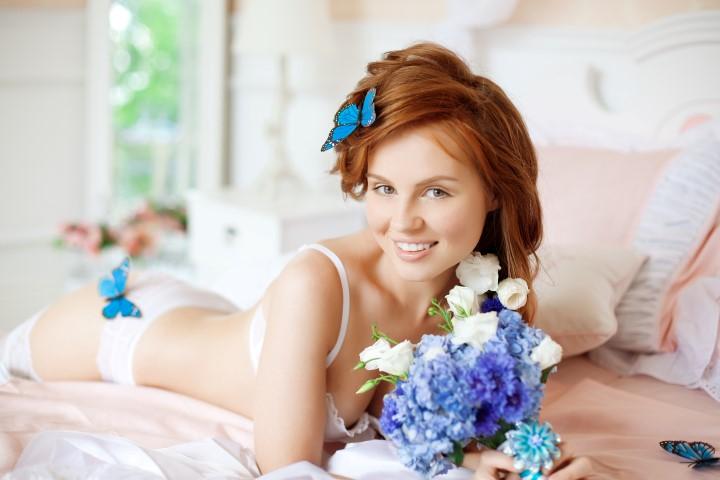 BoudoirShooting Verfhrerische Fotos der Braut