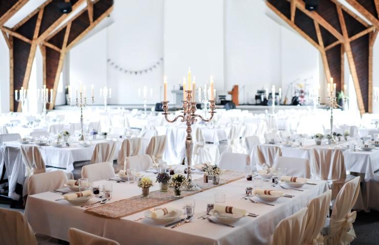 Der Hochzeitssaal  Perfektes Ambiente fr die Feier