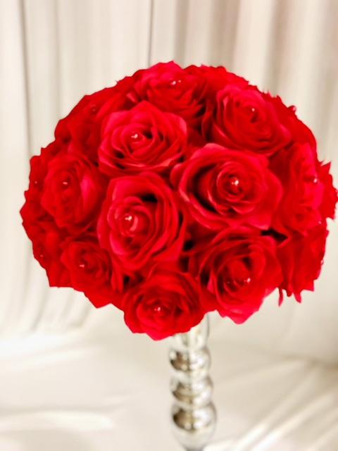 Blumen rot  Hochzeitsdekoration