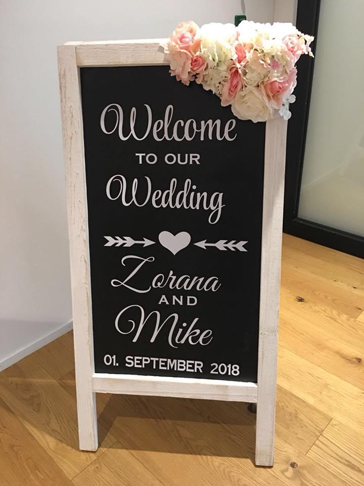 Welcome Tafeln Hochzeit  Hochzeitsdekoration