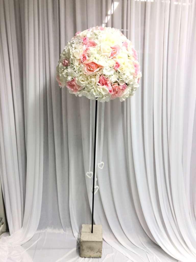 Blumenbaum rosa weiss  Hochzeitsdekoration