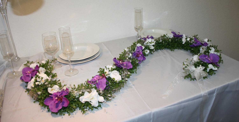 Aufleger Girlande Orchideen  Hochzeitsdekorationen
