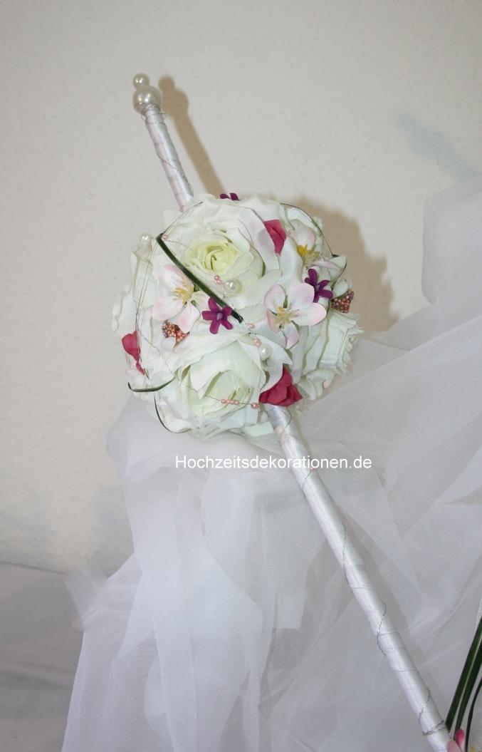 Kugelstrauss Zepter  Hochzeitsdekorationen