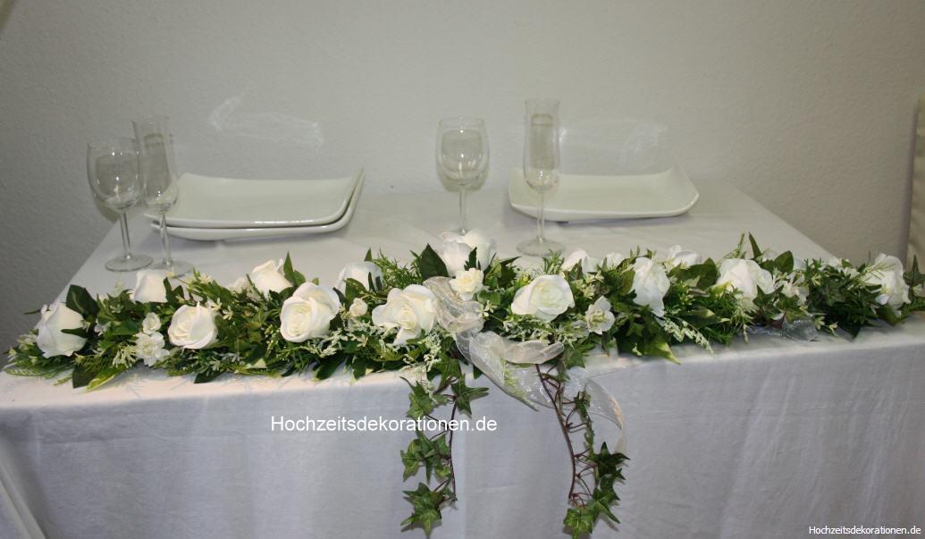 Weisse Blumen Hochzeit