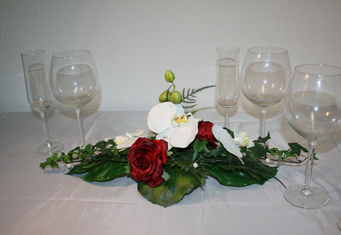 Tischgesteck Orchideen klassik  Hochzeitsdekorationen
