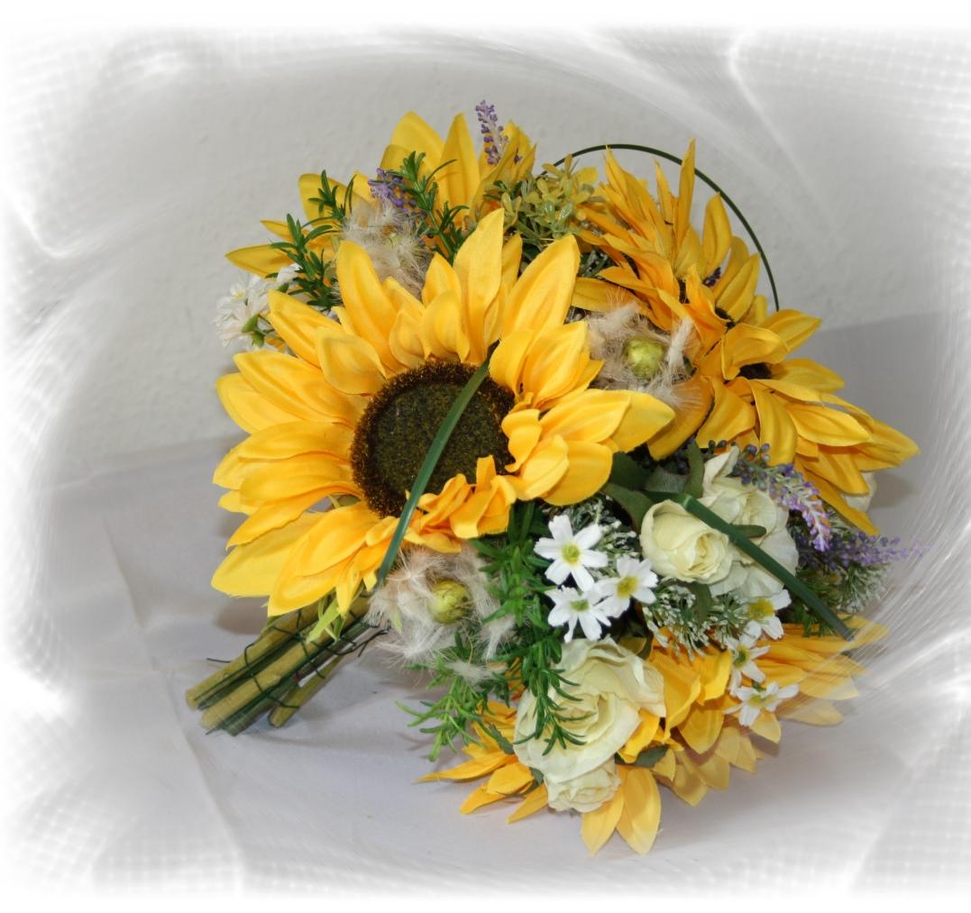 Brautstrauss Sonnenblumen gross  Hochzeitsdekorationen
