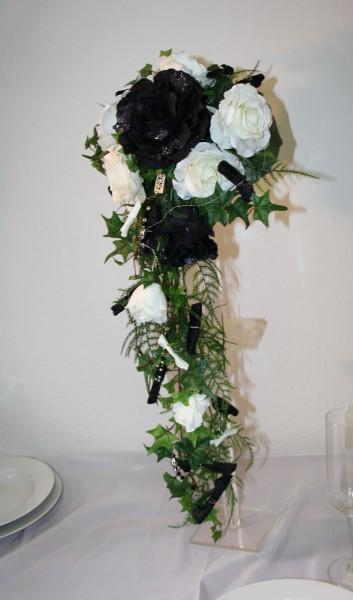 Brautstrauss schwarz weiss  Hochzeitsdekorationen