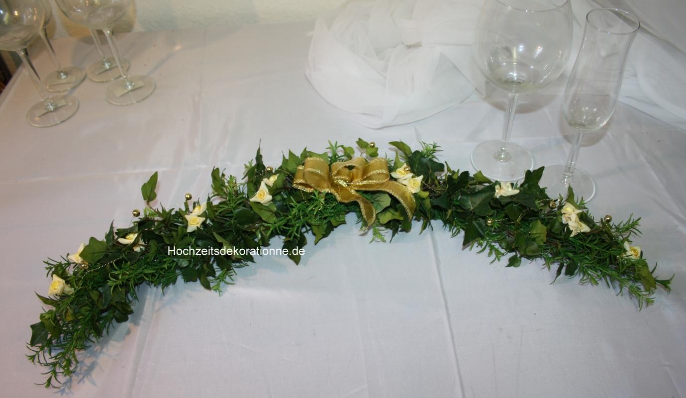 Platzranke goldene Hochzeit  Hochzeitsdekorationen