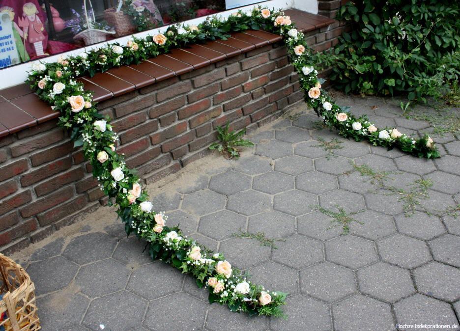 Girlande Kutsche klassik  Hochzeitsdekorationen