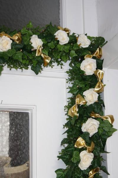 Girlande Gold mit Schleifen  Hochzeitsdekorationen