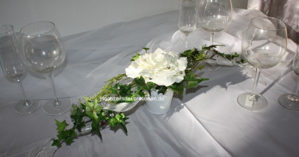 Tischgesteck schwarz weiss Hochzeit  Hochzeitsdekorationen