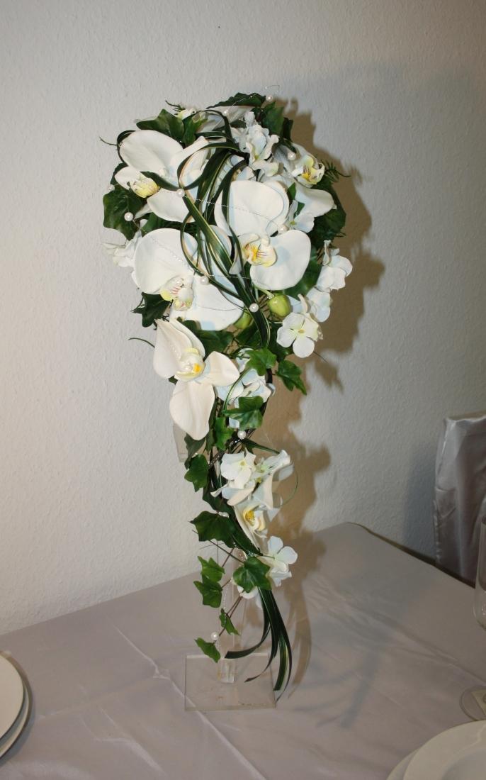 Brautstrauss Orchideen mit Grsern  Brautstrauss Orchidee