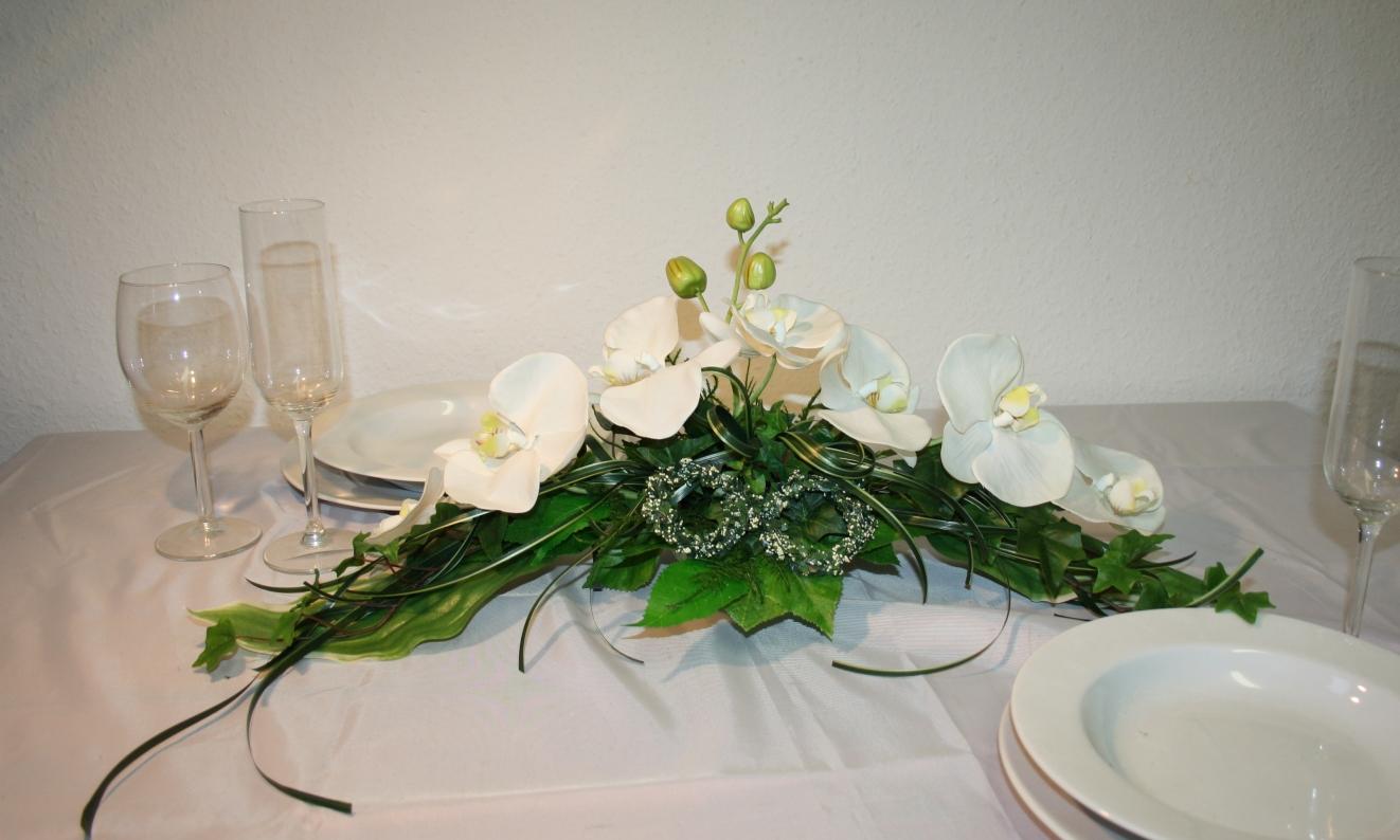 Paargesteck Orchideen Und Graeser  Hochzeitsdekorationen