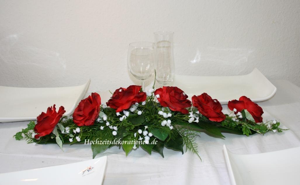 Kleines Gesteck Linie 2  kleines Gesteck Hochzeit 2  Tischdekorationen  Shop
