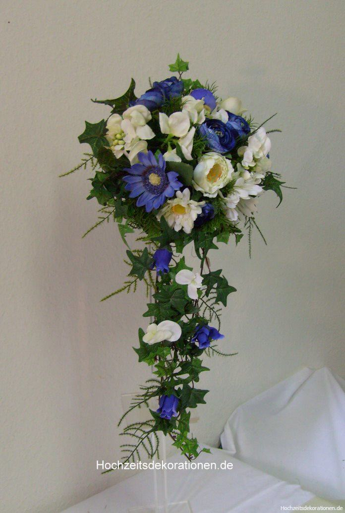 Brautstrauss kleiner Wasserfall  Hochzeitsdekorationen
