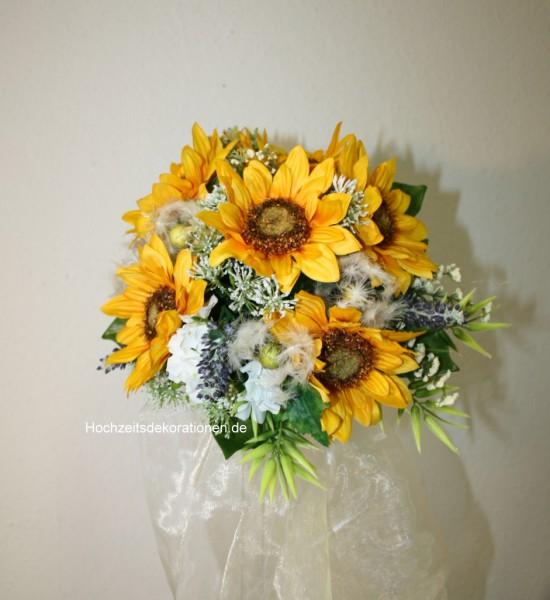 Brautstrauss Sommerhochzeit Sonnenblume