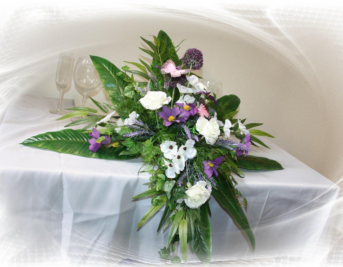 Altargesteck Sommerhochzeit  Hochzeitsdekorationen