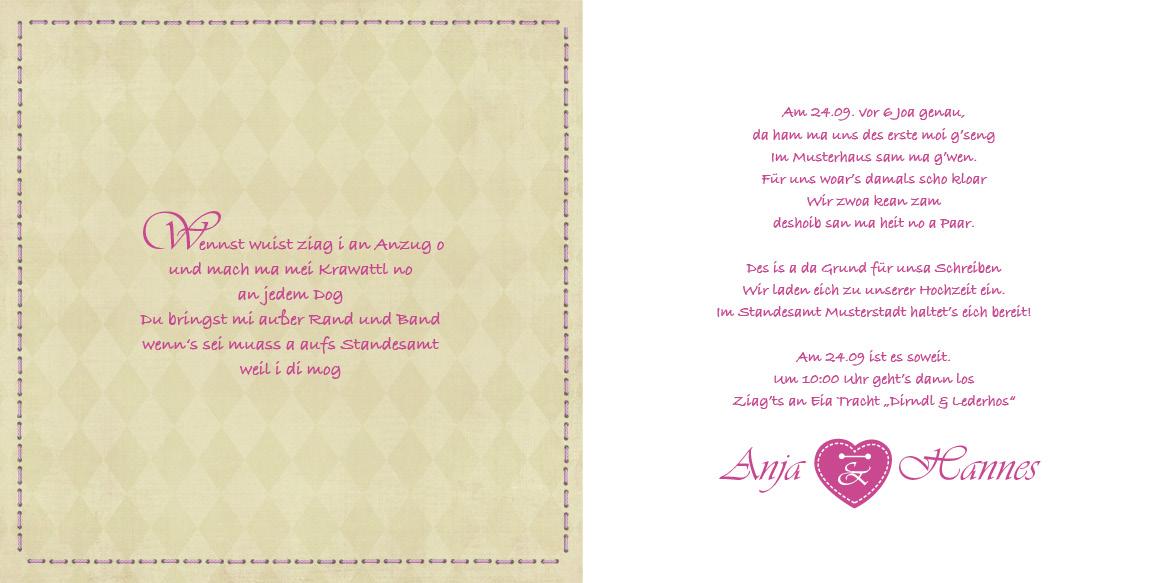 Hochzeitseinladungen  Znftig  trachtig